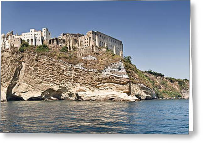 Terra Colors Greeting Cards - Castle On An Island, Castello Greeting Card by Panoramic Images