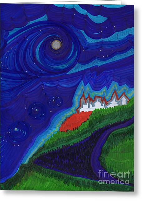 First Star Art Greeting Cards - Castle on the Cliff by jrr Greeting Card by First Star Art
