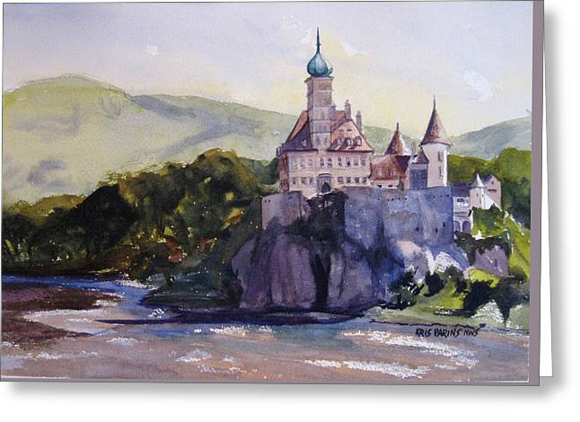 Castle On The Danube Greeting Card by Kris Parins