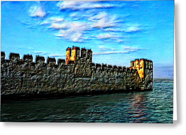Outlook Greeting Cards - Castle on the Sea Greeting Card by Bruce Nutting