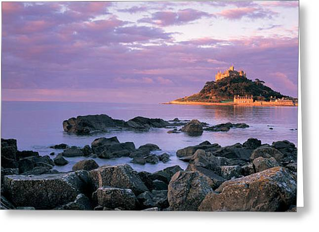 On Top Of Greeting Cards - Castle On Top Of A Hill, St Michaels Greeting Card by Panoramic Images