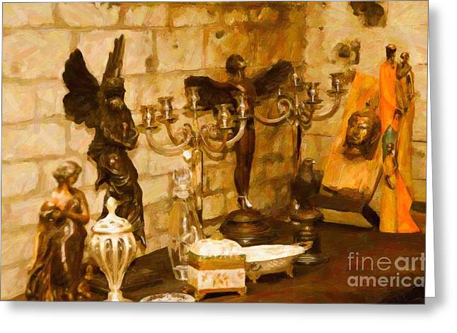 Pare Digital Art Greeting Cards - Castle Ornaments Still life Greeting Card by Eduardo Mora