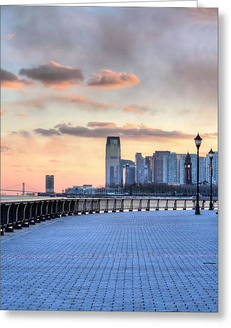 Jogging Greeting Cards - Castle Point V Greeting Card by JC Findley