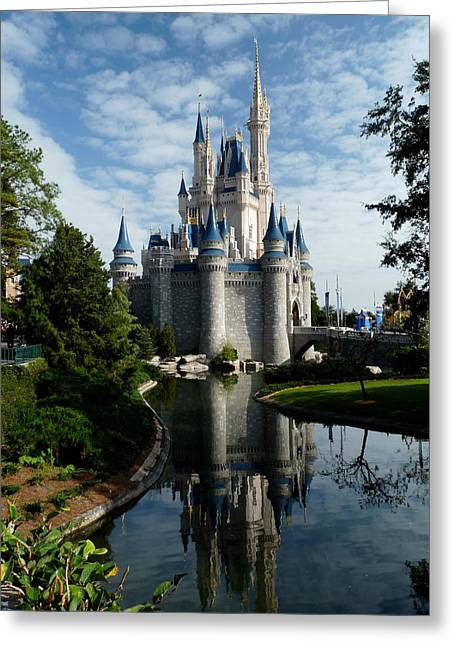 Magic Kingdom Greeting Cards - Castle Reflections Greeting Card by Nora Martinez