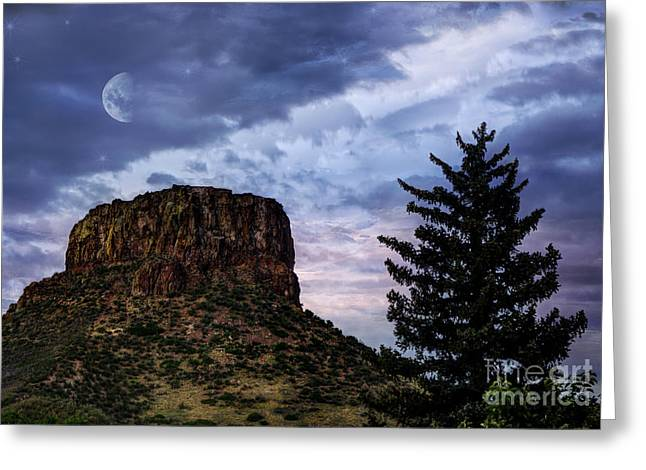 Hdr Landscape Photographs Greeting Cards - Castle Rock Greeting Card by Juli Scalzi