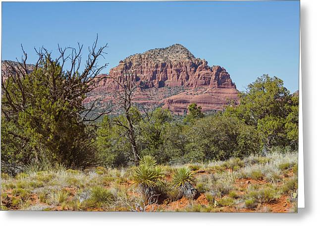 Monolith Greeting Cards - Castle Rock Sedona 2 Greeting Card by Marianne Campolongo