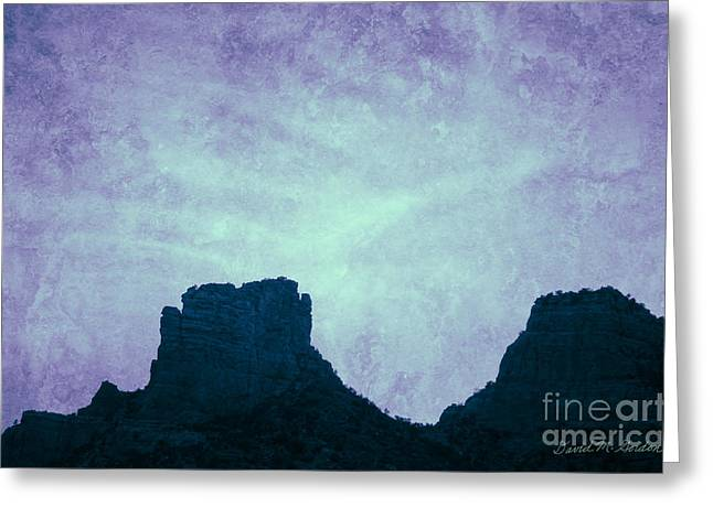 Elevation Digital Art Greeting Cards - Castle Rock Sedona AZ Greeting Card by David Gordon
