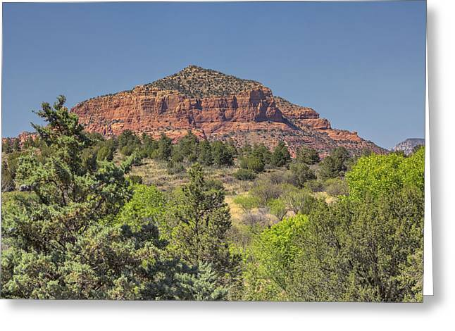 Monolith Greeting Cards - Castle Rock Sedona 1 Greeting Card by Marianne Campolongo