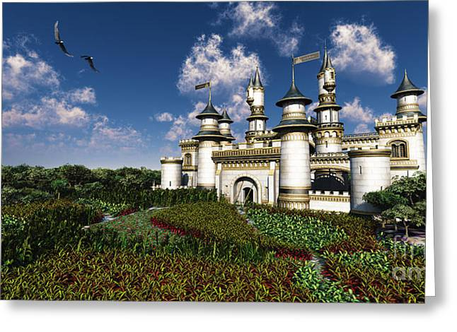 Castle. Birds Greeting Cards - Castle Royal Greeting Card by Corey Ford