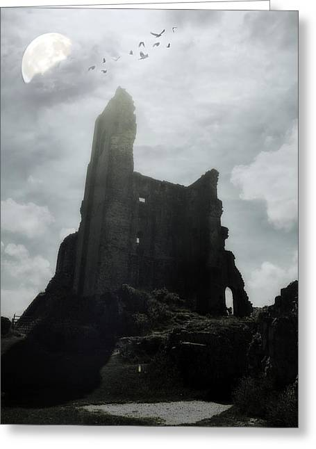 Ancient Ruins Greeting Cards - Castle Ruin Greeting Card by Joana Kruse