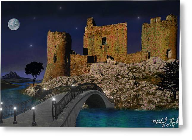 Moat Mountain Greeting Cards - Castle Ruins Greeting Card by Michael Rucker