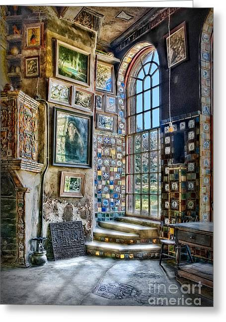 Byzantine Greeting Cards - Castle Saloon Greeting Card by Susan Candelario