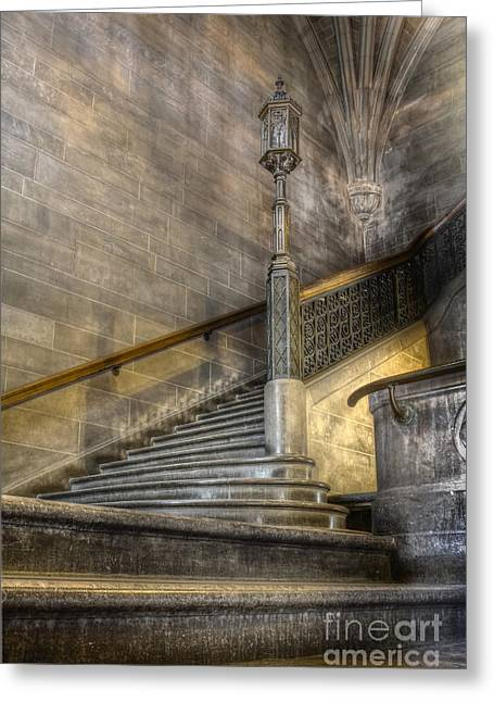 Castle Stairs Greeting Card by Margie Hurwich