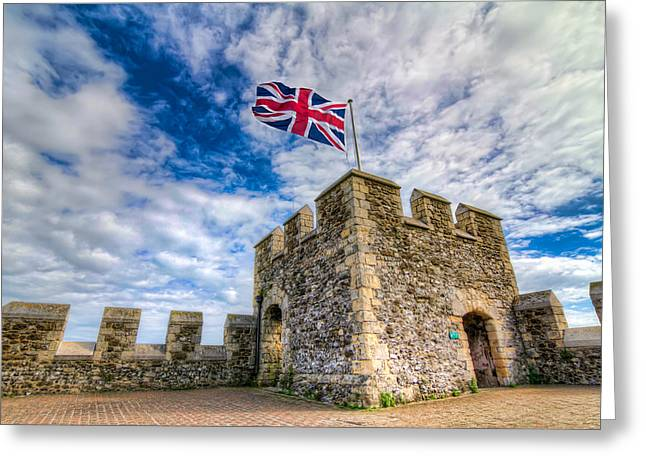 England Greeting Cards - Castle Top Greeting Card by Tim Stanley