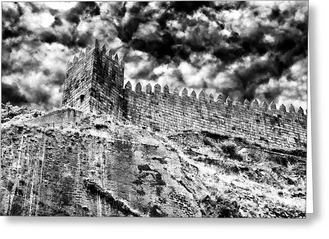 Castle Photographs Greeting Cards - Castle Wall in Porto Greeting Card by John Rizzuto