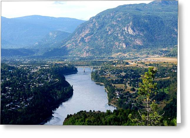 Confluence Greeting Cards - Castlegar- British Columbia Greeting Card by Will Borden