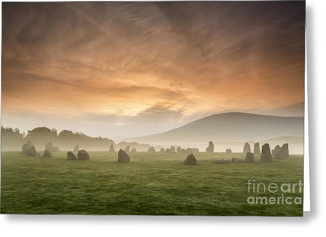 Vale Greeting Cards - Castlerigg Stone Circle Cumbria England Greeting Card by John Potter