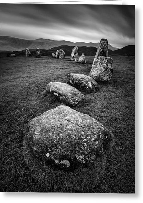 Bronze Age Greeting Cards - Castlerigg Stone Circle Greeting Card by Dave Bowman