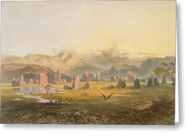 Printed Greeting Cards - Castlerigg Stone Circle Near Keswick Greeting Card by James Baker Pyne