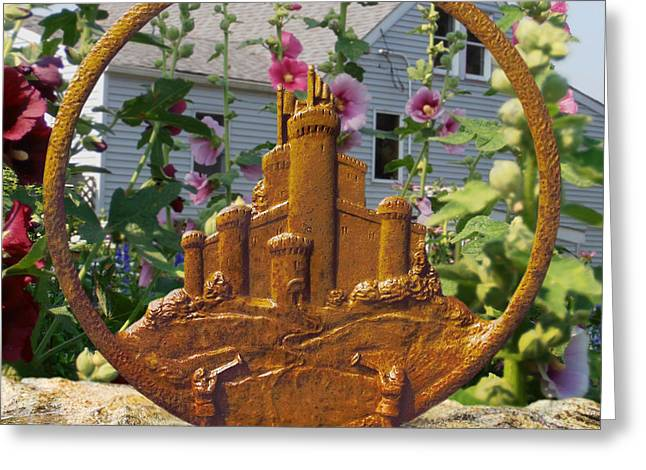 Garden Art Pyrography Greeting Cards - Castles In The Sky Greeting Card by Doug Kreuger