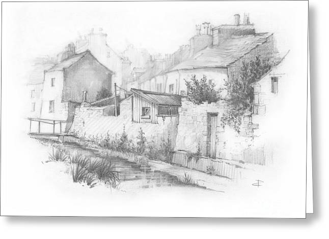 Castletown Sketch Greeting Card by Paul Davenport