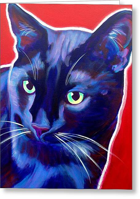 Cat - Caleb Greeting Card by Alicia VanNoy Call