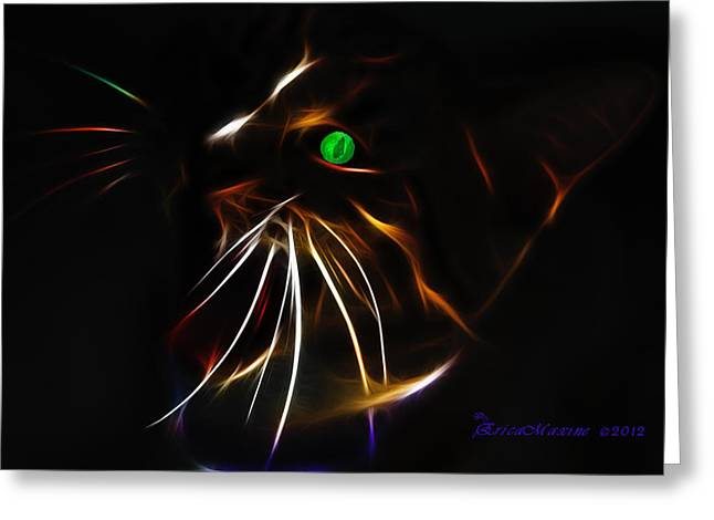 Tn Digital Art Greeting Cards - Cat 1-featured In The Group - Cats Are Loveable Greeting Card by EricaMaxine  Price