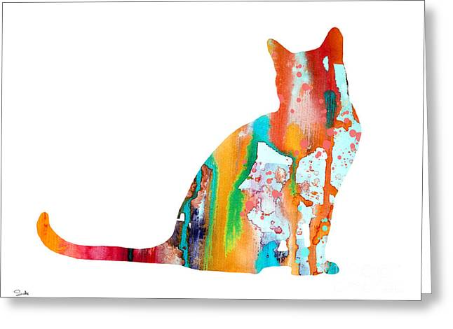 Cat Posters Greeting Cards - Cat 3 Greeting Card by Luke and Slavi