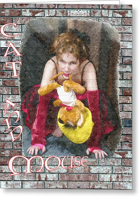 Dantzler Photo Art For Sale Greeting Cards - Cat  And  Mouse Greeting Card by Andrew Govan Dantzler