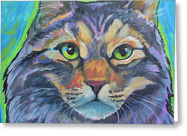 cat commission 2 Greeting Card by Jenn Cunningham