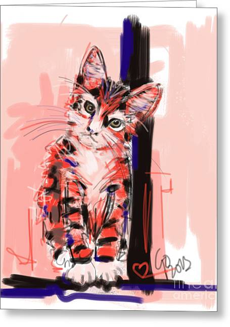 Kittens Greeting Cards - Cat I see you Greeting Card by Go Van Kampen