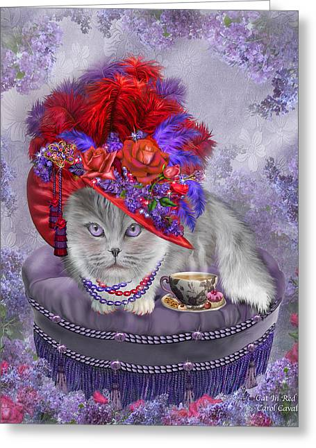 Cat In The Red Hat Greeting Card by Carol Cavalaris