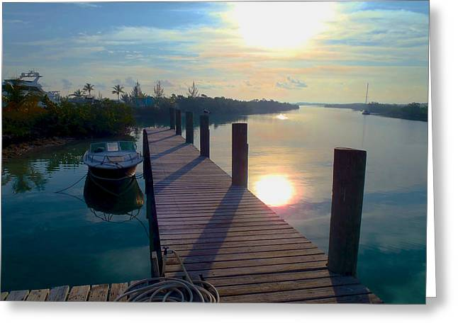 Captiva Greeting Cards - Cat Island dock Greeting Card by Carey Chen