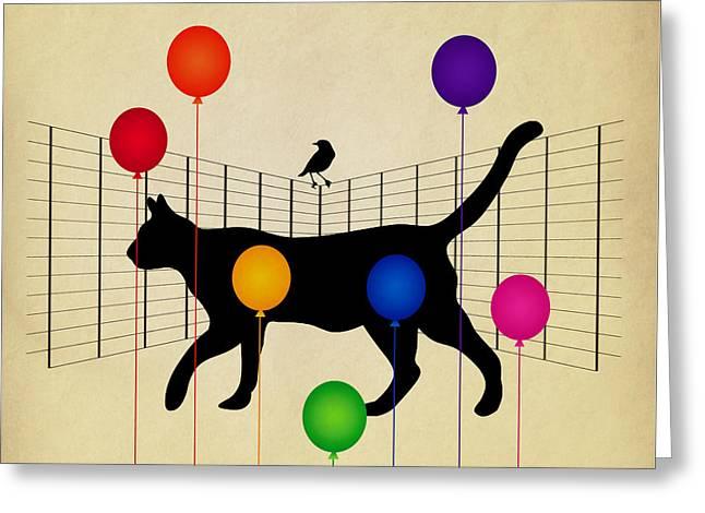 cat Greeting Card by Mark Ashkenazi
