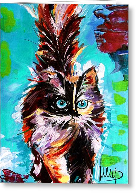 Persian Greeting Cards - Cat Greeting Card by Melanie D