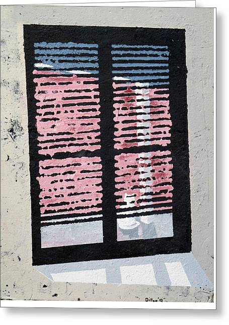Cushion Greeting Cards - Cat N Window Greeting Card by Michael Dillon