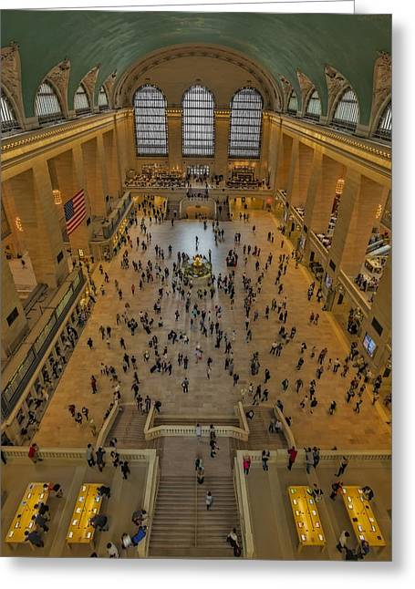 Structures Greeting Cards - Cat Walk At Grand Central Terminal Greeting Card by Susan Candelario