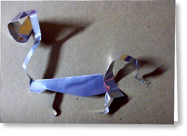 Shadows Sculptures Greeting Cards - Cat walk Greeting Card by Vineeth Menon