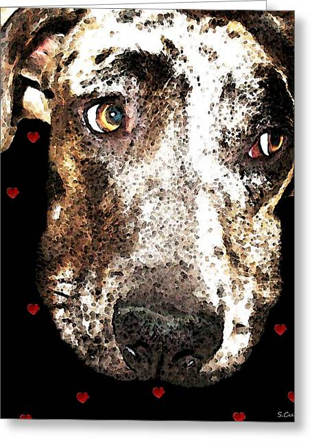 Dog Framed Prints Greeting Cards - Catahoula Leopard Dog - Lover Greeting Card by Sharon Cummings