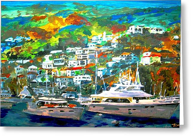 Catalina Island 3 Greeting Card by Rom Galicia