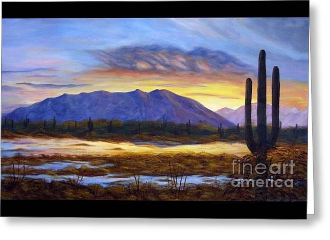 Catalina Sunrise Greeting Card by Judy Filarecki