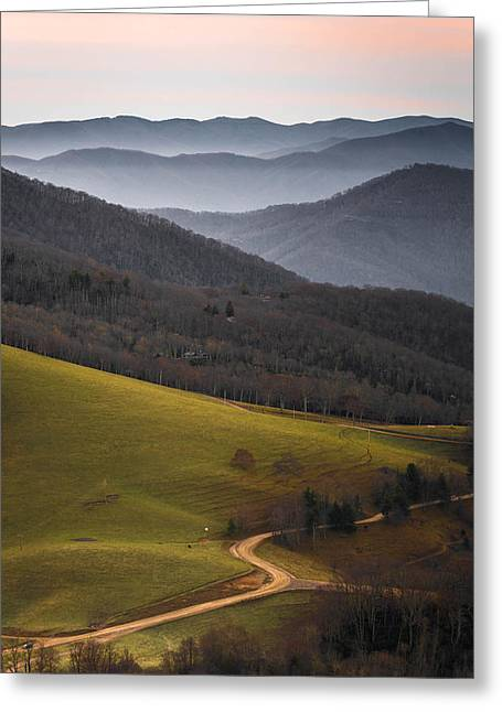 Tennessee Barn Greeting Cards - Cataloochee Valley Sunrise Greeting Card by Serge Skiba