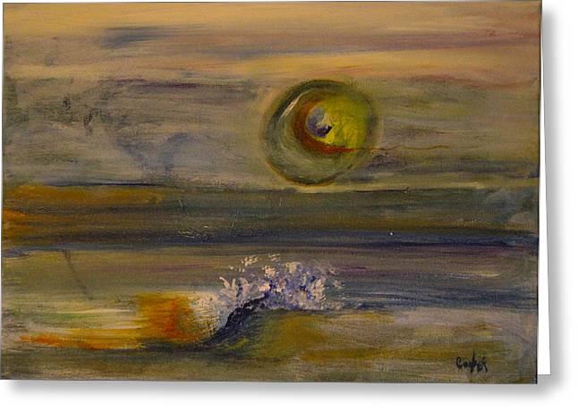 Pamela Cooper Paintings Greeting Cards - Catamenia Ocean  Greeting Card by Pamela Cooper