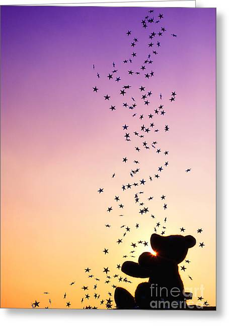 Wonderment Greeting Cards - Catch a Falling Star Greeting Card by Tim Gainey