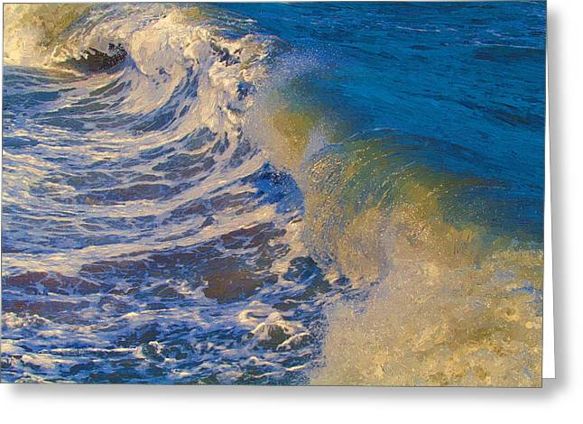 Catch A Wave Greeting Card by John Haldane