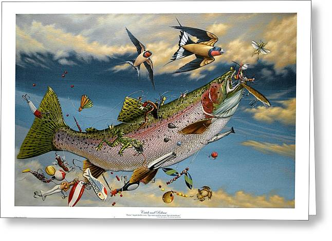 Philip Slagter Paintings Greeting Cards - Catch and Release Greeting Card by Philip Slagter
