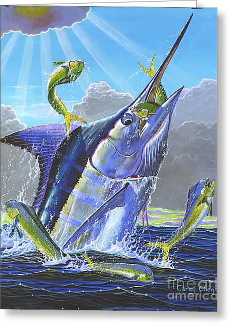 Sportfishing Boats Greeting Cards - Catch em up Off0029 Greeting Card by Carey Chen
