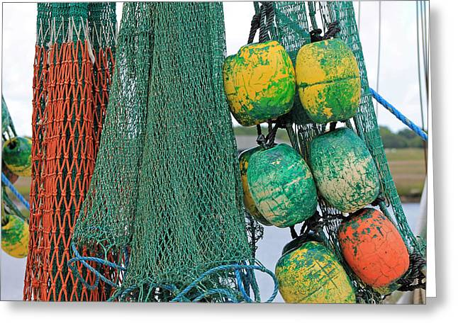 Old Fishing Gear Greeting Cards - Catch Greeting Card by Karen Norris