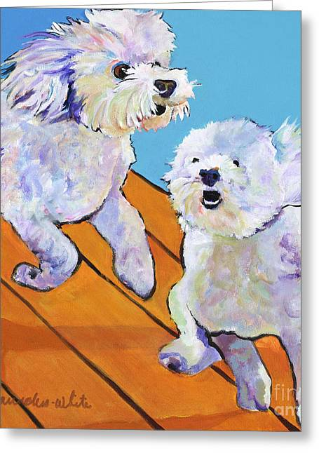 Pat Saunders-white Greeting Cards - Catch Me     Greeting Card by Pat Saunders-White
