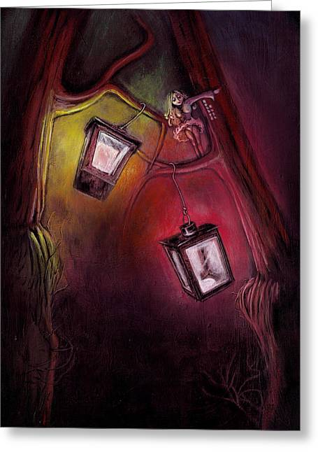 Pop Surrealism Greeting Cards - catch me if I fall Greeting Card by Rouble Rust